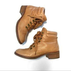Shoes - Gentle Souls Brooklyn tan  Leather Lace Up Boots